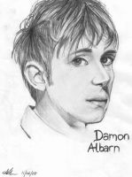 Damon Albarn Portrait by Groteskiprincessa