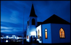 Norwegian Church - Cardiff Bay by l8
