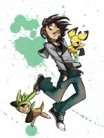He chose Chespin! by WhiteTreeFox