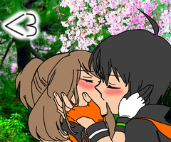 FranticShipping A Sweet Kiss In Spring (Recolored) by KaidohM10