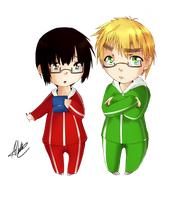 +APH+ Little nerds by Albablue