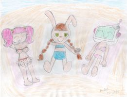 Mimi, Milk and ALT chillaxing on the beach by MamonFighter761