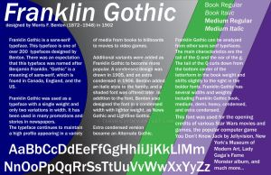 Typefaces Project - Franklin Gothic by Terrific21