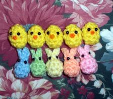 EasterBeans - Tiny Easter Egg Filler Plushies by happysquidmuffin