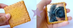 Biscuit Purse Mirror by missbeautifool