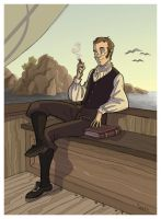 Morning Break -Stephen Maturin by kyla79