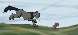Darkpaw on the prowl by Chibiteretsu