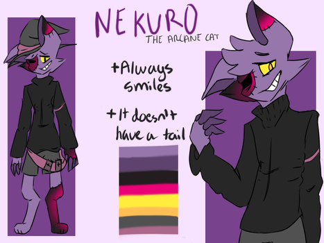 Nekuro Reference Sheet by Just-Nekuroo