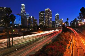Blue hour downtown los angeles by yo13dawg