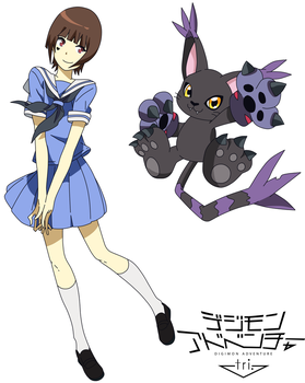 [Digimon Adventure Tri Version] Ruki And Blackgato by WilkoNaru