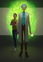 Rick and Morty by PAINTINGexp
