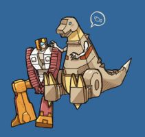 Grimlock and Nosecone by yuta085