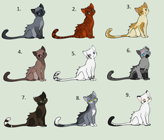 Cat Adoptables (Closed) by Sukida-Adopts