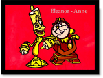 Lumiere and Cogsworth Animation Cel by Eleanor-Anne6