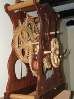 Wooden Clock by back2root