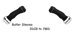MMD- Butler's sleeves -DL by MMDFakewings18