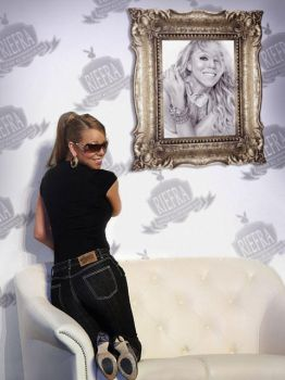 Mariah Carey with my drawing by riefra
