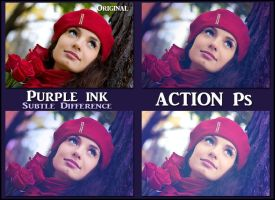 Purple ink  ACTIONS Ps by Tetelle-passion