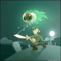 Link VS a Moa by MathieuBeaulieu