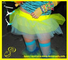 blue and yellow tutu by love-on-a-stick