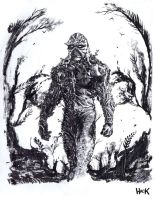 Swamp Thing convention sketch by RobertHack