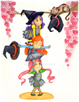 Three little witches by lucressia