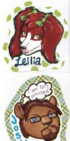 Leilia and Josh Badges by dragonmelde