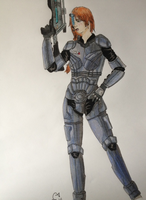 Mass Effect: Commander Katherine Shepard by Tinalbion