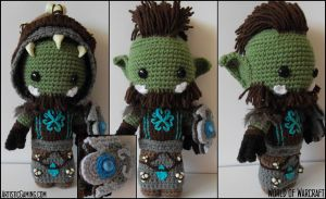 World of Warcraft - Orc Custom Sackdoll by GamerKirei