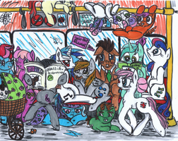 Overfilled Underground (aka the Rat Race) coloured by VegemiteGuzzler