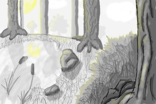 Greyscale/environment practice by Kantola