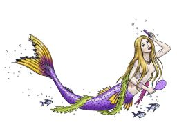 Mermaid Tattoo Design by dashinvaine