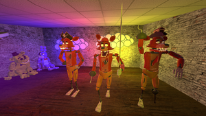 Five nights at Freddy's Foxy's pirate gang by GeneralCustard7
