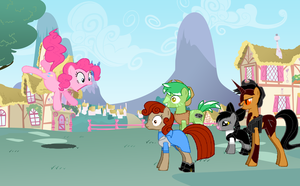 Rango in ponyville by elfmoon3