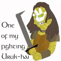 Fighting Uruk-Hai by Fyrie