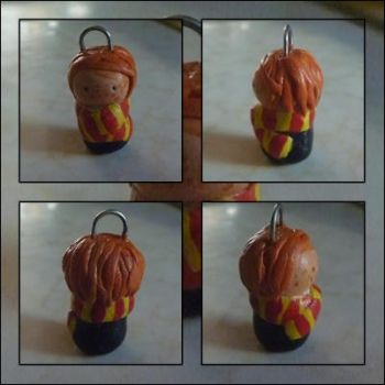 Ron Weasley Clay Chibi Charm by fragile-star