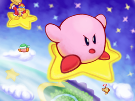 Kirby Superatar! by KazeSkyfox