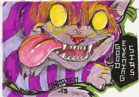 Cheshire cat Sticker by Dingo4graff