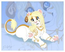 White and Gold by DolphyDolphiana