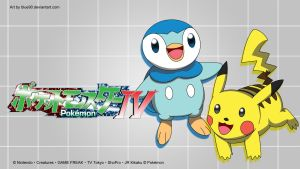 PKMN IV - Pikachu and piplup Wallpaper by Blue90