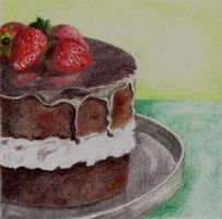 Strawberries-Chocolate Cake by 11-73-3-33