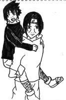 Sasuke and Itachi before everything by tigernose123
