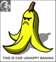 Unhappy Banana by Cecil-Sayataki