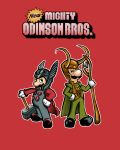 Super Mighty Odinson bros! by VictraART