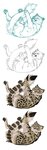 Snowleopard MS Paint steps by Maquenda