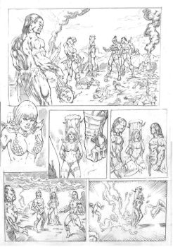 _Red Sonja test page  number 01 by JardelCruz
