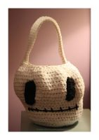 skeleton trick or treat bag by theyarnbunny