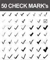 Vector Checkmarks by pushaloo