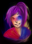 Neon Gal, done :) by Kahy-Kahwee