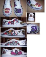 My Transformers Shoes by Transformersfan4ever